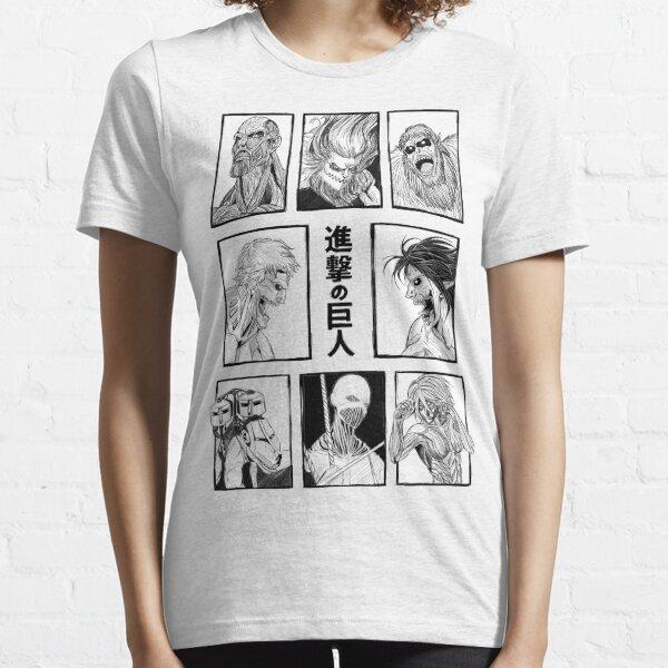 Shingeki no Kyojin .. Attaque des Titans des Titans T-shirt essentiel