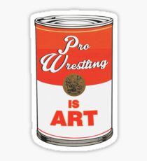 Pro Wrestling is (pop) Art - Colour Sticker