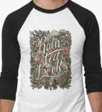 Rain, Tea & Books - Color version Men's Baseball ¾ T-Shirt