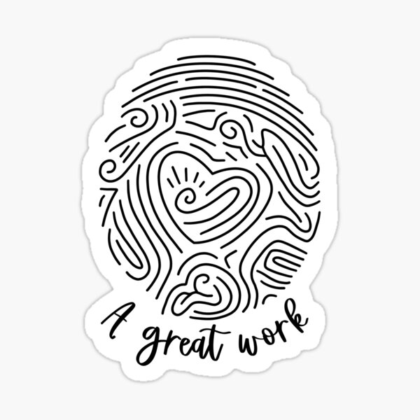 A Great Work LDS Youth 2021 Theme Sticker