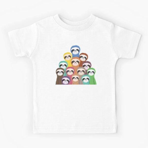 Sloth Pattern Kids T-Shirt
