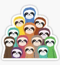 Sloth Pattern Sticker