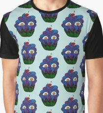 Crazy Cupcake Monster Graphic T-Shirt
