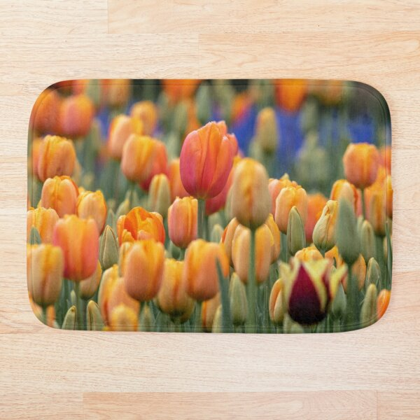 field of orange Bath Mat