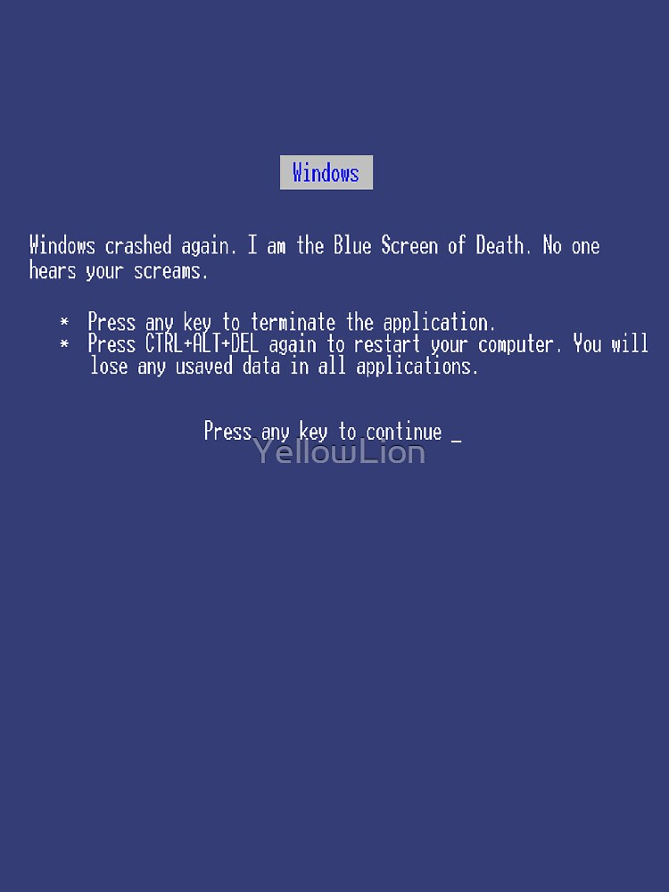 Blue Screen by YellowLion