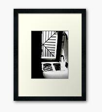 Sky Light Silhouette Framed Print