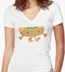Hot Dog! Women's Fitted V-Neck T-Shirt