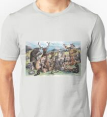 J. S. Pughe - Teddy Roosevelt at Thanksgiving Feast Unisex T-Shirt