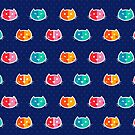 Chromatic Cats Pattern by istaria