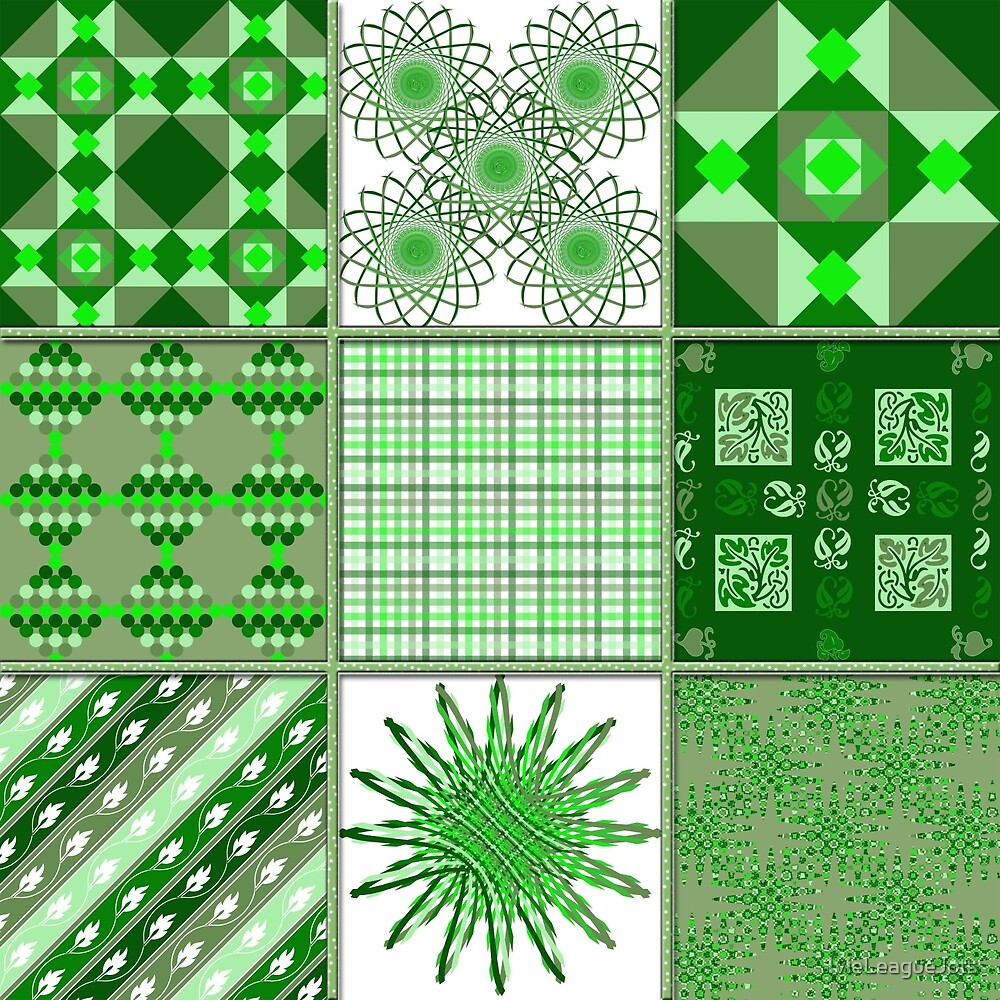 Green, green, it's green they say - Quasi-Quilt by IvieLeagueJots