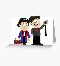 Mary Poppins and Bert Greeting Card