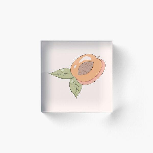 Half a Peach Acrylic Block