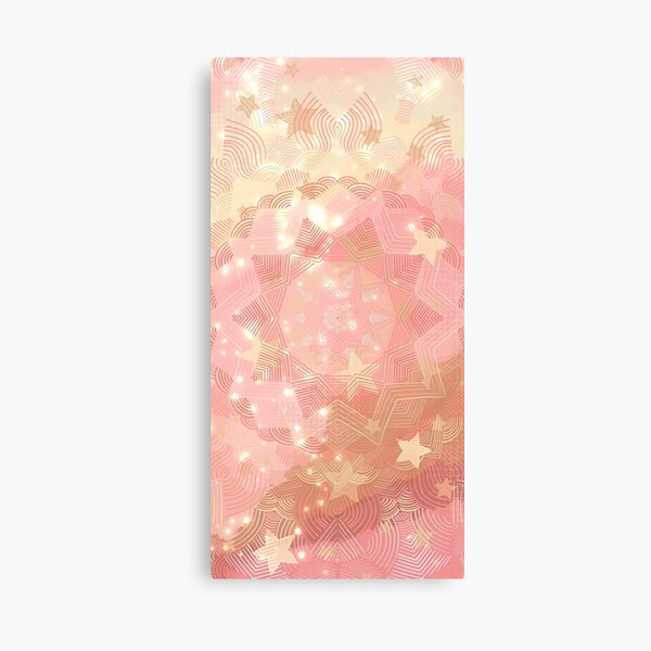 Blush Pink Galaxy Mandala Canvas Print