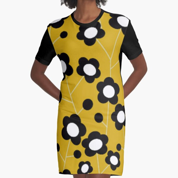 mary quant flowers Graphic T-Shirt Dress