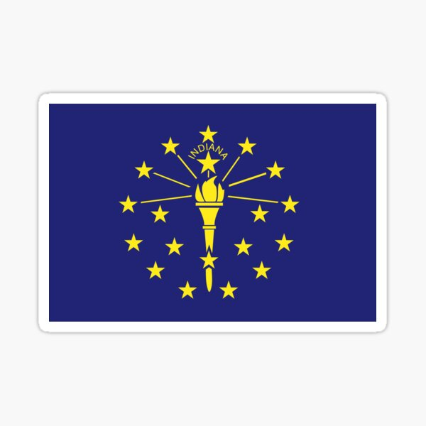 Indiana Flag Sticker