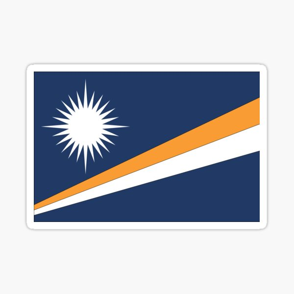 Marshall Islands Flag Sticker