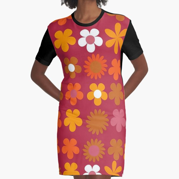 new mary quant flowers Graphic T-Shirt Dress