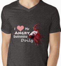 I love my betta Men's V-Neck T-Shirt