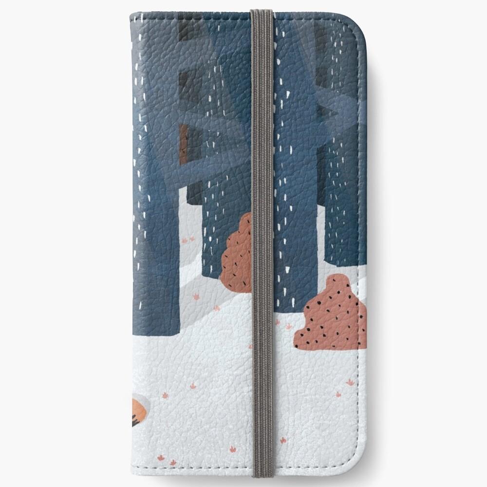 Schlafen im Wald iPhone Flip-Case