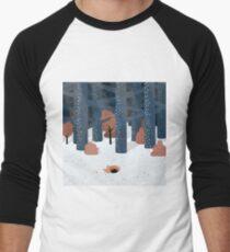 Asleep in the Woods Men's Baseball ¾ T-Shirt