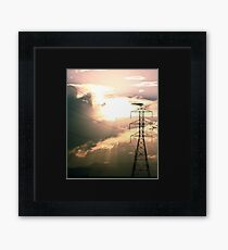 Powerlines Framed Print