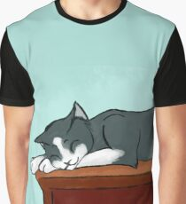 Napping Kitty Graphic T-Shirt
