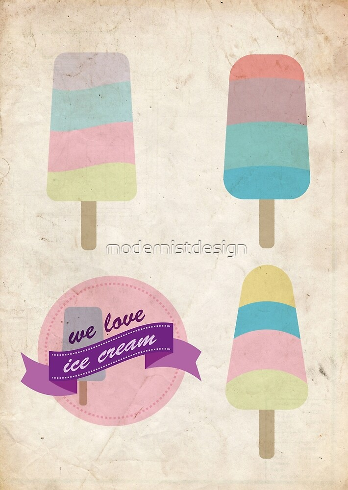 We love ice cream by modernistdesign