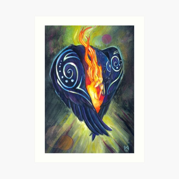 Crow Heart Art Print