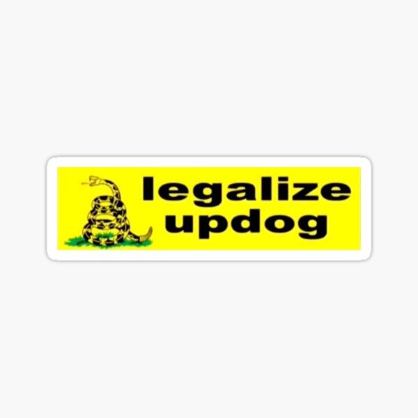 legalizing updog Sticker