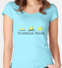 Triathlon Chick Women's Fitted Scoop T-Shirt