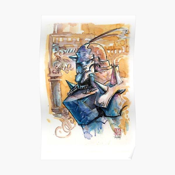 Alphonse Elric - The Full Metal Alchemist - Watercolor Poster