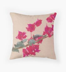 Bougainvillea Floral Design Throw Pillow
