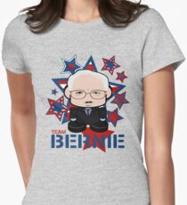 Team Bernie Politico'bot Toy Robot Womens Fitted T-Shirt