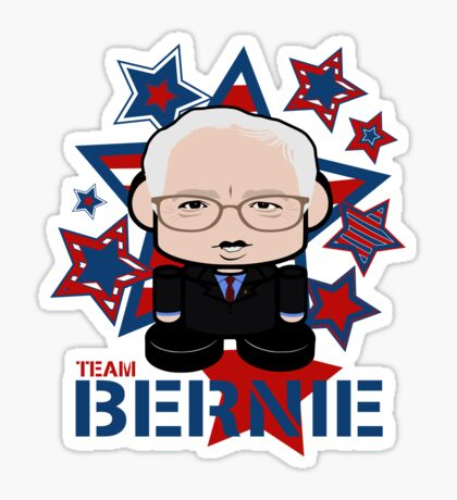 Team Bernie Politico'bot Toy Robot Sticker