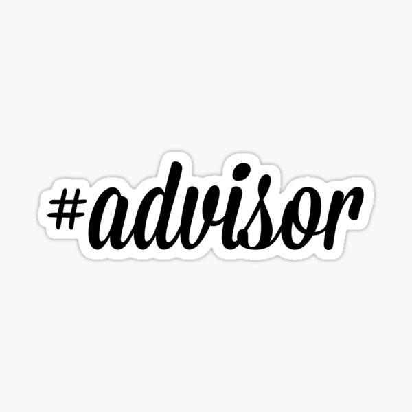 #Advisor Sticker