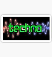 Techno Wave Sticker