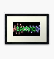 Techno Wave Framed Print
