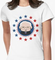 Backed by Populist Demand: Bernie'bot 2.0 Womens Fitted T-Shirt
