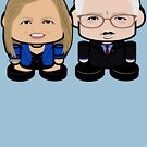 Bernie'bots: Greater Together Politico'bot Toy Robots by Carbon-Fibre Media
