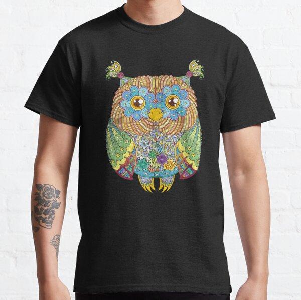 Rainbow mandala owl, owl mandala, rainbow owl, gifts for owl lovers, animal mandala design, cute owl gift, zentangle owl gift, animal lovers Classic T-Shirt