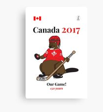 Canada 150, Canada 2017 & Canada Day Shirts & Souvenirs - Canadian Hockey, Curling, July 1 Party, Cool and Heritage Beaver Shirt Selection! Canvas Print