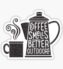 Coffee Smells Better Sticker