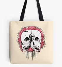 Double Cow Skull Tote Bag