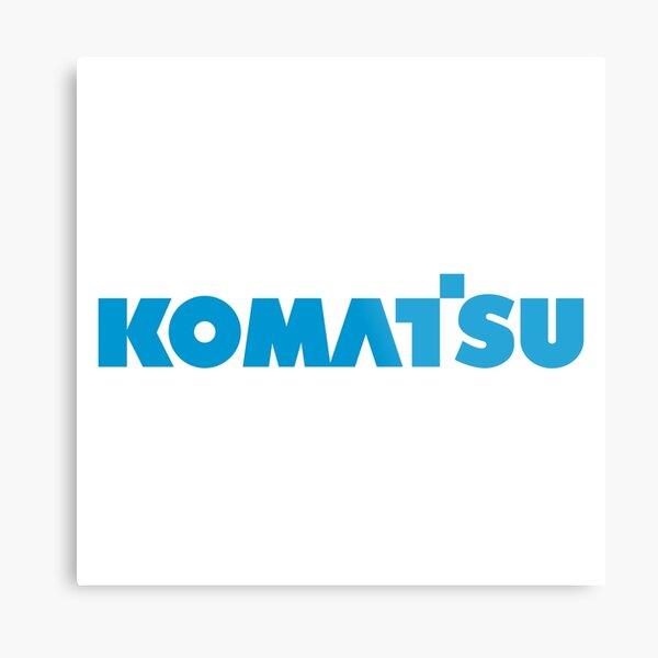 Komatsu Logo Metal Print