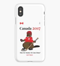 Canada 150, Canada 2017 & Canada Day Shirts & Souvenirs - Canadian Hockey, Curling, July 1 Party, Cool and Heritage Beaver Shirt Selection! iPhone Case