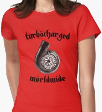 Turbocharged Worldwide Womens Fitted T-Shirt