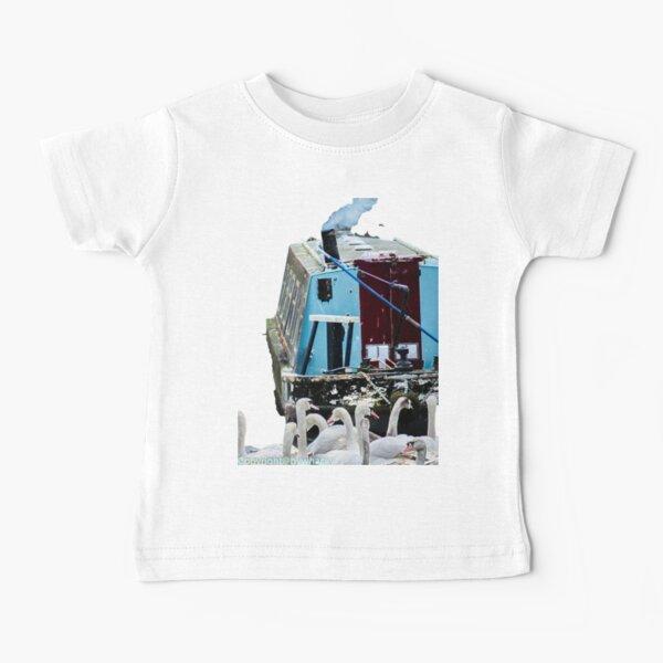 Narrowboat and swans  Baby T-Shirt