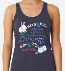 Bunny & Kitty Racerback Tank Top