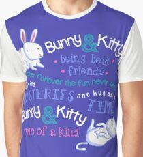 Bunny & Kitty Graphic T-Shirt