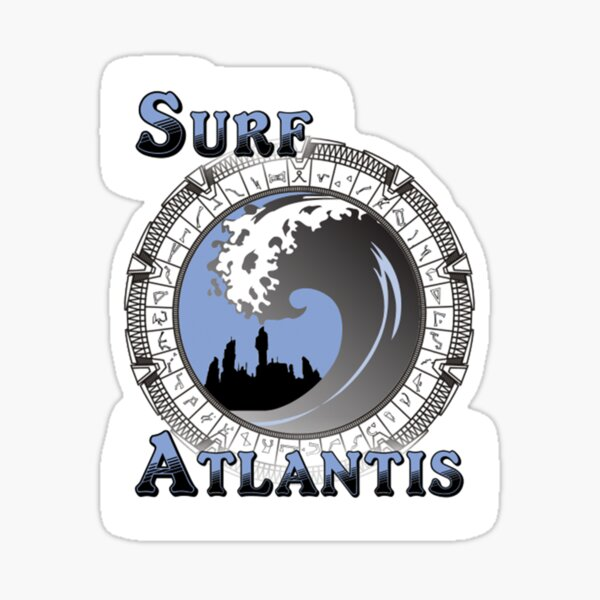 Surf Atlantis Sticker